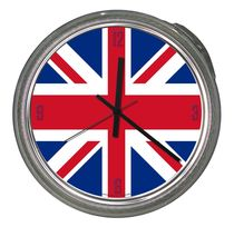 design clock UNION JACK Pacific Art Design