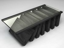 design coffee table in glass and certified wood (FSC-certified) DOMINO SIDD