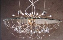 design crystal chandelier URANUS Orion Leuchtenfabrik