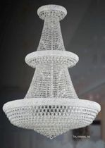 design crystal chandelier TAJ MAHAL 50 CHROME UNITED LIGHTS