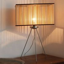 design desk lamp in solid non treated wood CUBOID Tom Raffield