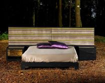 design double bed with integrated bed-side table DEEP : D-50 OPOSTOS - PLURAL BRAND SINGULAR OPTION