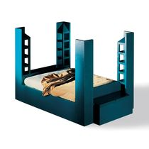 design double bed with shelf QUARTETTO by Franco Purini MIRABILI Arte d'Abitare