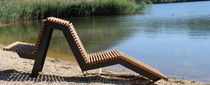 design double garden sun lounger VICEVERSA 2 by marco Dellai mauropedergnana