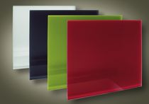 design electric radiator (coloured glass)  The Glass Radiator Company