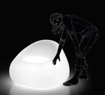 design garden luminous armchair GUMBALL by Alberto Brogliato  PLUSt COLLECTION by EURO 3 PLAST