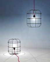 design metal floor lamp LA CAGE by Stefan Schöning DARK AT NIGHT NV