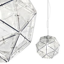 design pendant lamp (methacrylate) POLIEDRO cod.1722 by Elio Martinelli , 1962 Martinelli Luce Spa