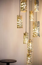 design pendant lamp (blown glass) INSTALLATION by John Pomp Triode Design