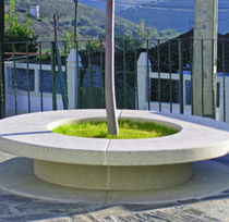 design public bench in concrete AM 100 CONVEX Grupo Amop Synergies