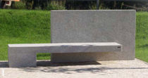 design public bench in concrete (with backrest) AGUEDA Grupo Amop Synergies