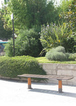 design public bench in metal ORLAM FLAT AUBRILAM