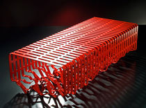 design public bench in metal INTERFERENCE by Alexandre Moronnoz Outdoorz Gallery