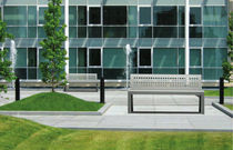 design public bench in metal (with backrest) MOOD by Staubach & Kuckertz METALCO