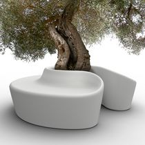 design public bench in polymere with integrated planter SARDANA by Crouscalogero Qui est Paul