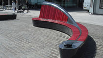 design public bench in wood NORWEGIAN-BENCH Accsys Technologies