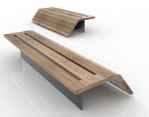 design public bench in wood and metal FLY LAB23
