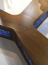 design public bench in wood and metal YPSILON LAB23