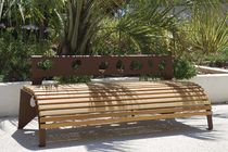 design public bench in wood and metal GREEN PALACIO© II by Louis de Merindol CYRIA
