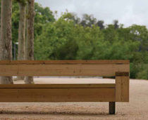 design public bench in wood and metal (with backrest) BAF by Joan Forgas Alis