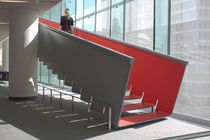design straight floating staircase (metal frame and steps) JUILLIARD STAIRS Zahner