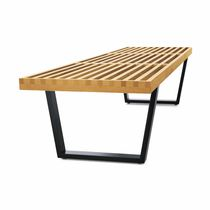 design solid wood bench by George Nelson NELSON BENCH VITRA HOME
