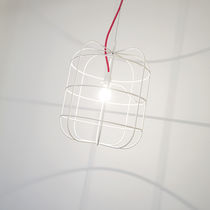 design steel pendant lamp LA CAGE by Stefan Sch&ouml;ning DARK AT NIGHT NV