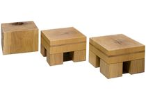 design stool in reclaimed wood MULTI-USE STOOL SET   Rotsen Furniture