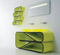 design washbasin cabinet with illuminated mirror ATMOSFERA BANDINI RUBINETTERIE