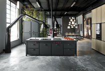 design wood / steel kitchen MINA' & NATURAL SKIN Minacciolo