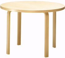 design wood table by Alvar Aalto (scandinavian) 90A Artek