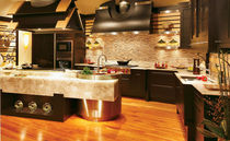 design wood veneer / marble kitchen PACIFIC RIM COLLECTION bentwood Luxury Kitchens