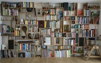 design wooden bookcase (re-usable materials) BOOKSHELF studiomama