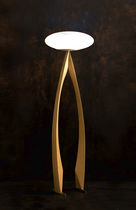 design wooden floor lamp STAND UP (FLOOR) Wood & Light by Omar Sherzad