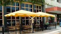 double offset patio umbrella  Shade Systems