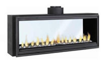 double-sided gas closed hearth for fireplaces HORIZON 1300 TUNNEL RENE BRISACH
