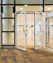 double-swing door for commercial buildings MILLENNIUM PLUS RPT Cortizo