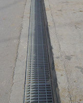 drain channel with grating for public spaces HEAVY DUTY ASCO