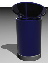 dust-bin for public spaces MUSSEL-PEARL BLUE ARTOTEC