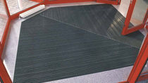 dust control entrance mat for commercial building TOP CLEAN TREND® WITH GROOVED RUBBER AND CASSETTE BRUSH Geggus EMC