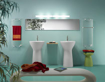 electric towel radiator in glass  Thermoglance