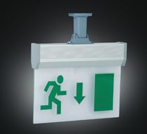 emergency light with exit sign STILY EMERGENCY FIXTURES Gecem Aydinlatma San. Tic. Sti.