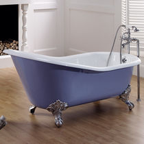 enameled cast iron bath-tub on legs LAVANDE  BLEU PROVENCE