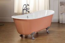 enameled cast iron bath-tub on legs ROMARIN  BLEU PROVENCE
