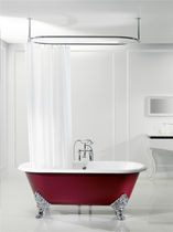 enameled cast iron bath-tub on legs JASMIN  BLEU PROVENCE