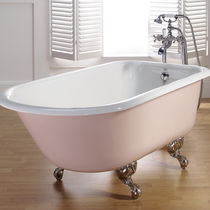 enameled cast iron bath-tub on legs ANIS BLEU PROVENCE