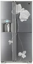 energy efficient refrigerator side by side (EU Energy label) LG GRP 2477SWA LG Electronics