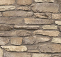 engineered stone cladding for façade BURNT OCHRE CULTURED STONE