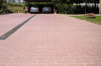 engineered stone paving tile for outdoor floors CONSOLARE : ROSSO CITYTILE'S