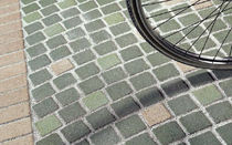 engineered stone paving tile for outdoor floors CONSOLARE : SANPIETRINO VERDE SCURO CITYTILE'S